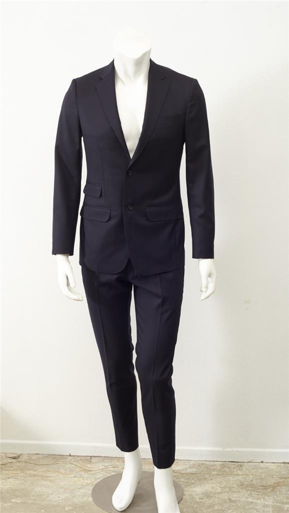 PHINEAS COLE PAUL STUART  Herren Navy Classic Wool Two-Button Blazer Pant Suit 36