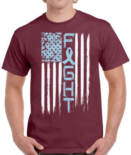 Prostate Cancer Shirts Tops T-shirts for Men Men/'s Cancer Flag Blue Ribbon