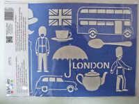 Pochoir Londres London Angleterre 13 Motifs 1 Planche A4 Artemio Diy Home Deco