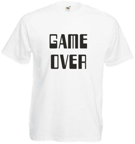Game Over T-Shirt Cool Gamer Funny Retro Console Games Joke Gift Xmas Adults Tee