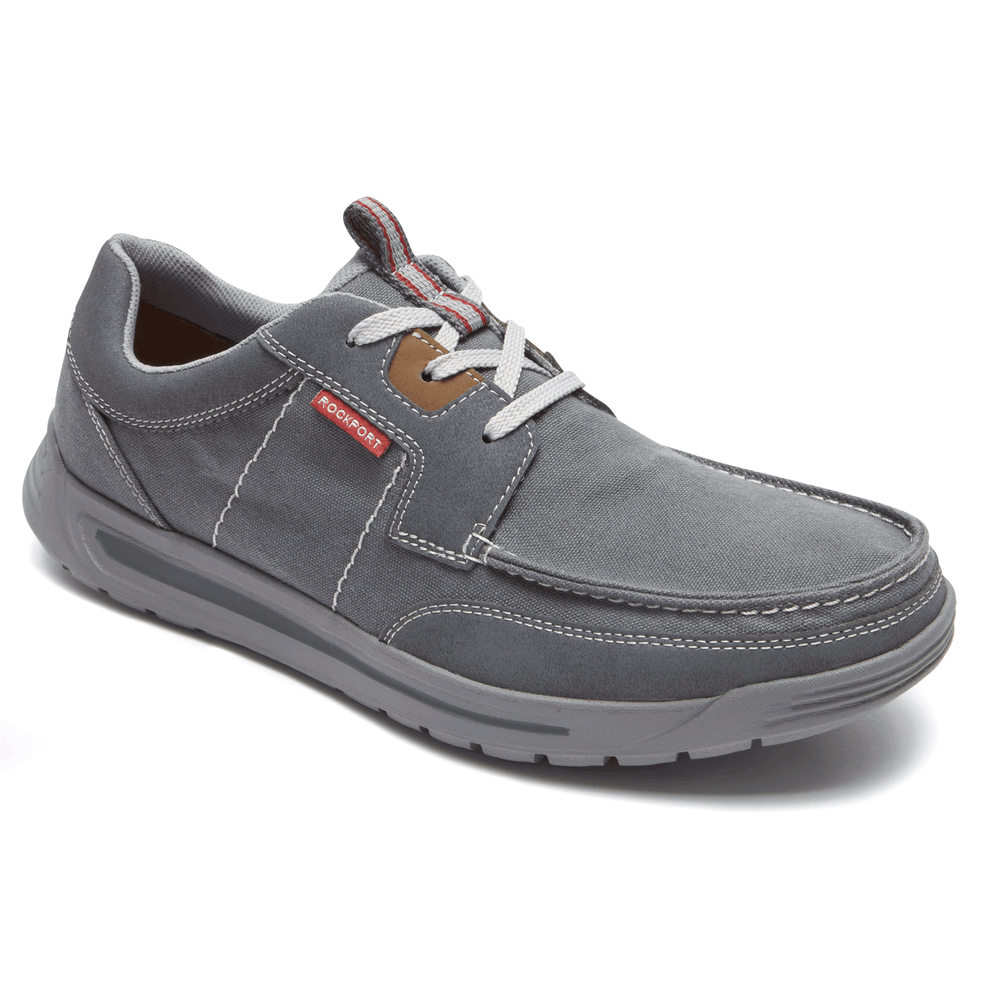 Rockport Randle Moc Toe Oxford Men's Fashion Sneaker shoes 8 M GREY