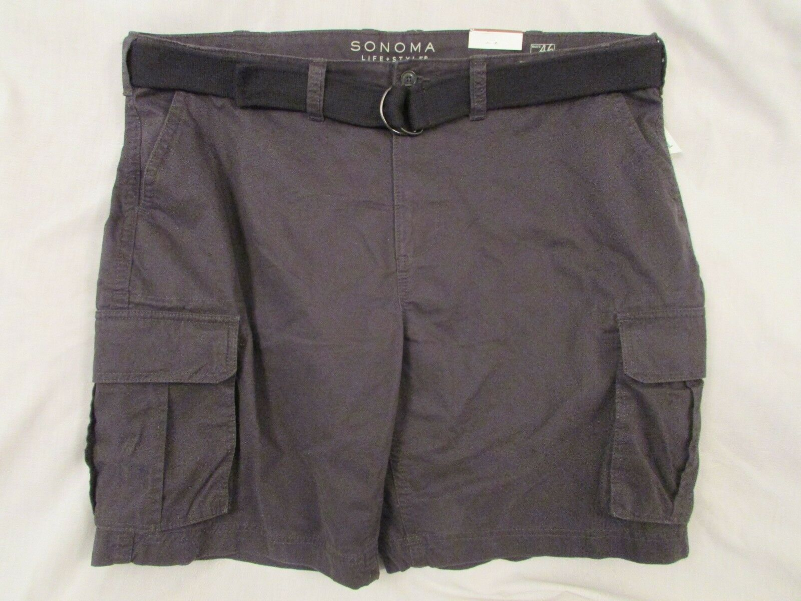 Mens  Sonoma  Size 46 B&T, (021) Pepper, Cargo Shorts w Belt, MSRP