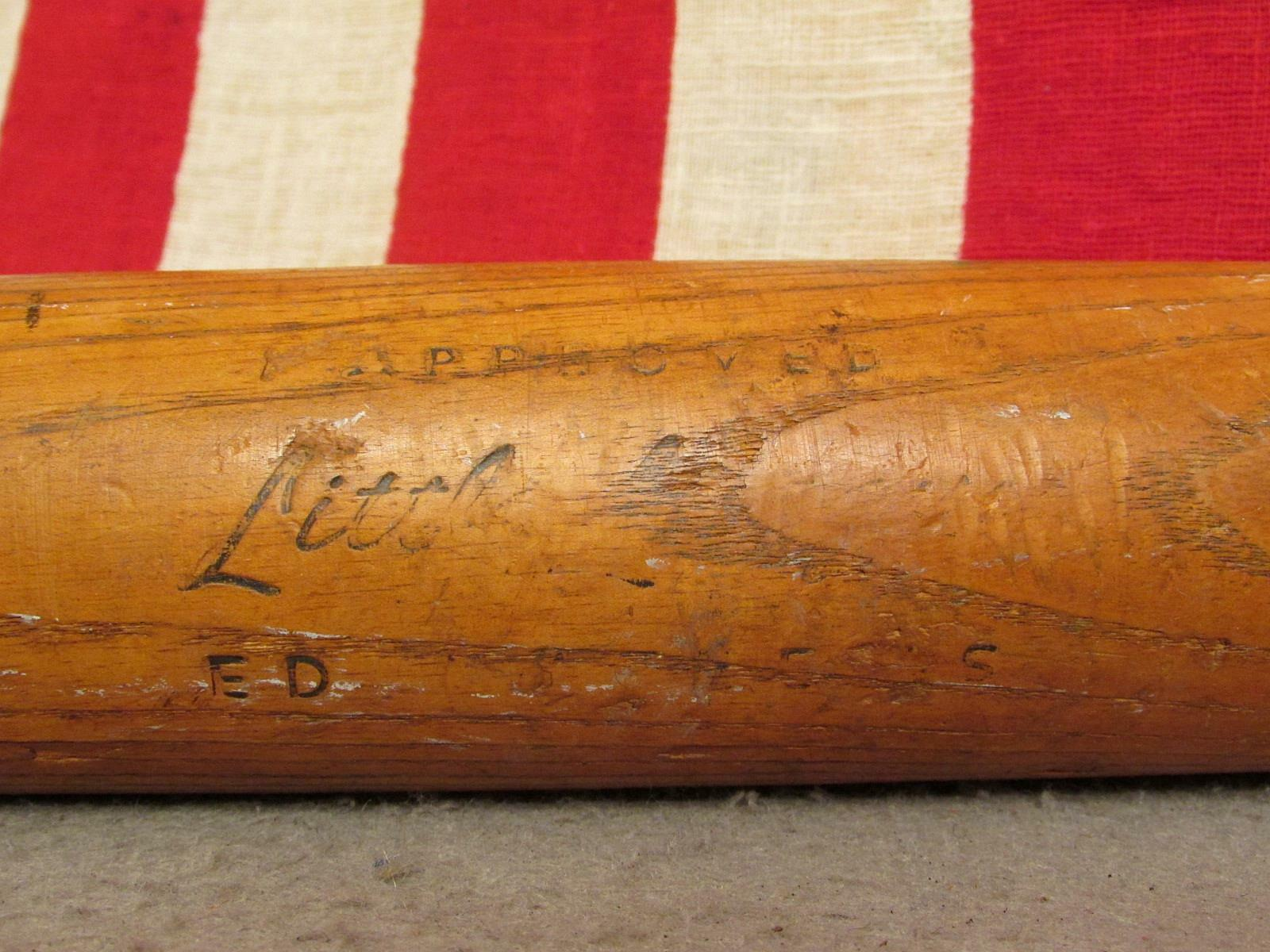Vintage Belknap Mfg Co.Blaugrass Holz Baseballschläger Ed Mathews Ll Modell Modell Ll Hof 0b8756