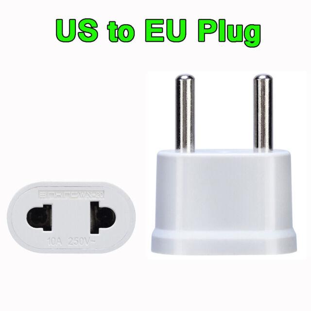 Power Charger US To EU Adaptor Socket Conversion plugs Plug Converter Adapter
