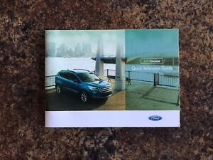 Image Is Loading 2017 Ford Escape Quick Reference Guide Supplement For