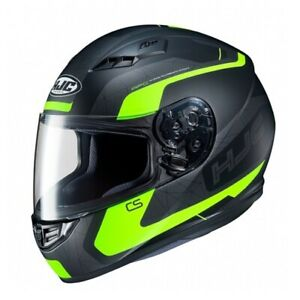 NEW-HJC-Helm-CS-15-Dosta-schwarz-neon-gelb-matt-Gr-L-59-60-Motorradhelm-NEU