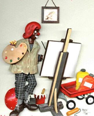 Annie Lee Art Clown Plaque ART/Africna American ArtLiquidation Sale!!!!!!!!!!!!