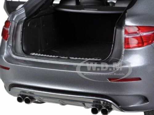 BMW X6 M SPACE GREY 1//18 DIECAST MODEL  CAR BY KYOSHO 08762