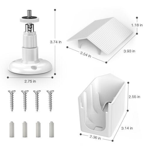 Pro 2 Cámara Blanco 2 Pack carcasa resistente a la intemperie y montaje de seguridad para Arlo Pro