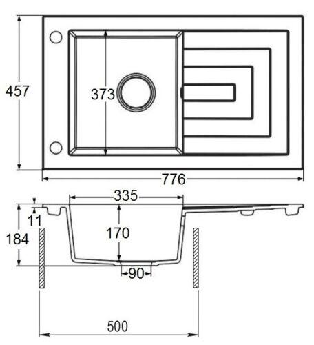 """LINDBERGH® Granit Spüle Beige /""""PAR/"""" Siphon Einbauspüle Küchenspüle Spülbecken"""