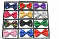 Sequin Bowtie Tuxedo Classic Bowtie Neckwear Adjustable Unisex Bow Glitter