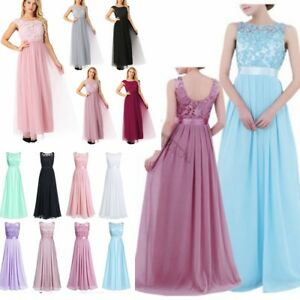 UK-Women-Formal-Lace-Long-Dress-Prom-Evening-Party-Cocktail-Bridesmaid-Wedding
