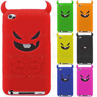 Fits, iPod Touch 4 4G Case, Devil Silicone Cover Compatible For Apple 4th Gen