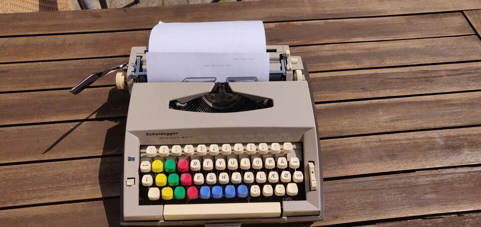 Retro Scheidegger PRINCESS-MATIC skrivemaskine