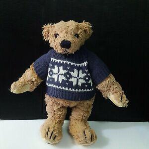 Vintage-1997-Regal-Teddy-Bear-by-Artist-Linda-Spiegel-Retro-Collectible-Doll