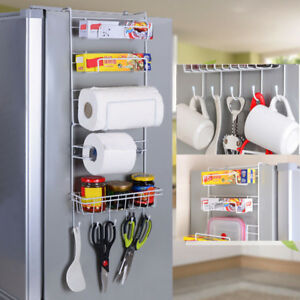 Over-Door-Freezer-Storage-Home-Kitchen-Spice-Rack-Organizer-Pantry-Holder-Shelf