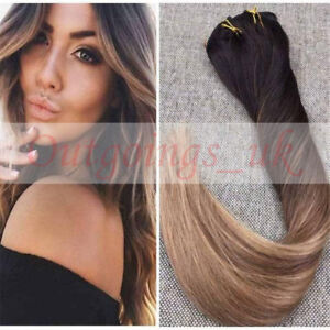 Honey blonde ombre balayage clip in remy human hair extensions image is loading honey blonde ombre balayage clip in remy human pmusecretfo Images