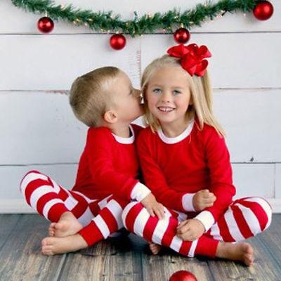 Christmas Family Matching Pajamas Set Women Man Nightwear Parent-Kid Sleepwear