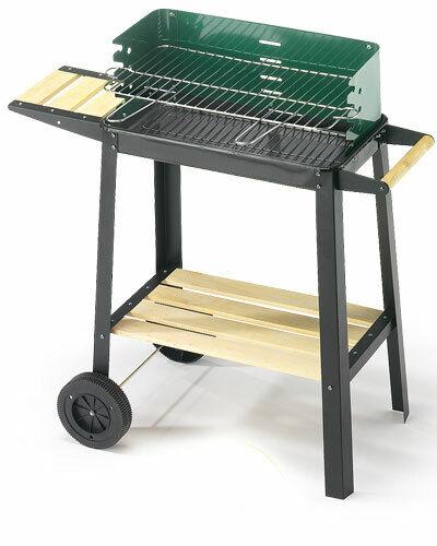 Ompagrill barbecue a legna carbone e carbonella 50-25 verde W fornacella bbq 50x