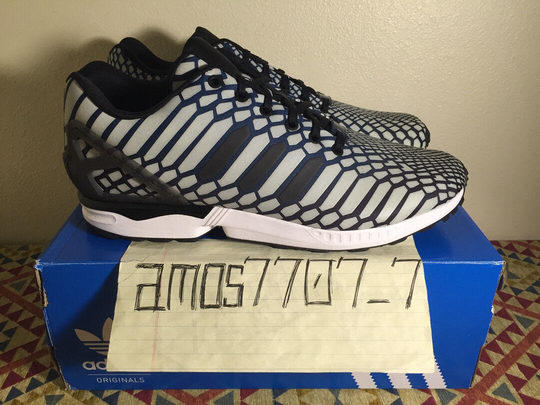 Adidas Originals ZX Flux Xeno Glow Hi Viz Reflective AQ4534 Men Size 10 10.5 11