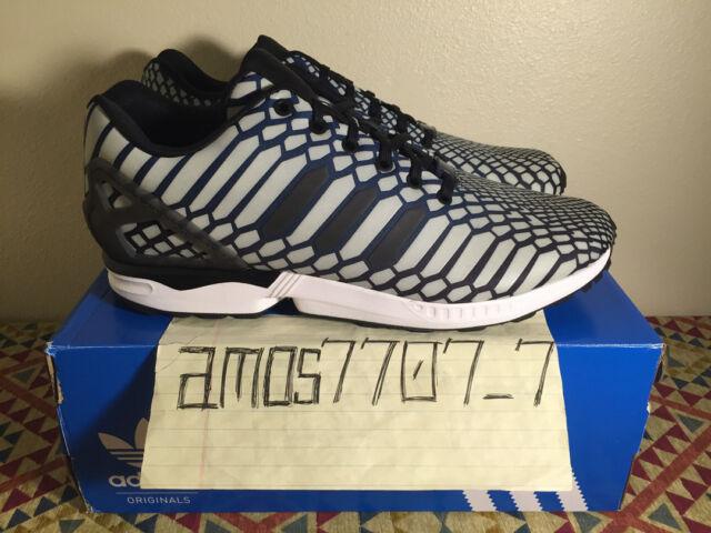 meet f4c5d e605c Adidas Originals ZX Flux Xeno Glow Hi Viz Reflective AQ4534 Men's Size 10 11
