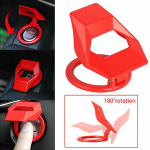 Red-Alloy-Engine-Start-Stop-Push-Button-Cover-Ring-Car-Accessorie-Trim-Universal