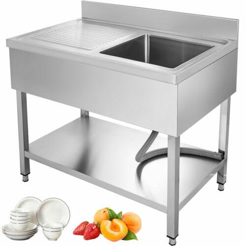 100X60 cm Küchenspüle Linker Spültisch 1 Becken mit Aufkantung und Unterboden