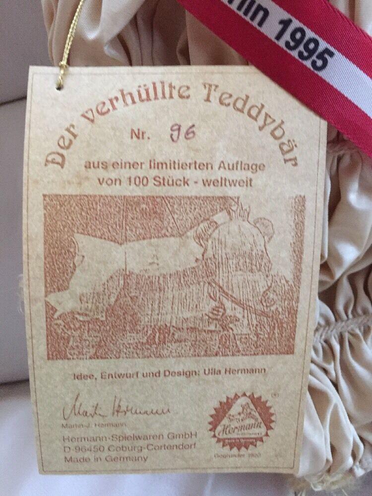 HERMANN Coburg Berlin 1995 Der verhüllte verhüllte verhüllte Teddybär 096/100 limitiert selten 2a6c05