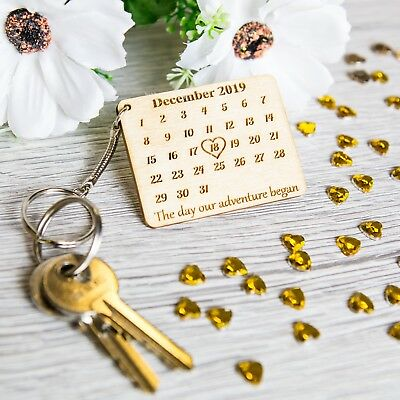 Competente Personalised Wooden Gift Keyring Calendar The Day You Became My Novelty Woodgift Ridurre Il Peso Corporeo E Prolungare La Vita