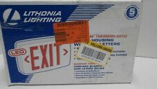 Lithonia Lighting Led Exit Sign Quatum Themoplastic 718208 New Red Letters B1