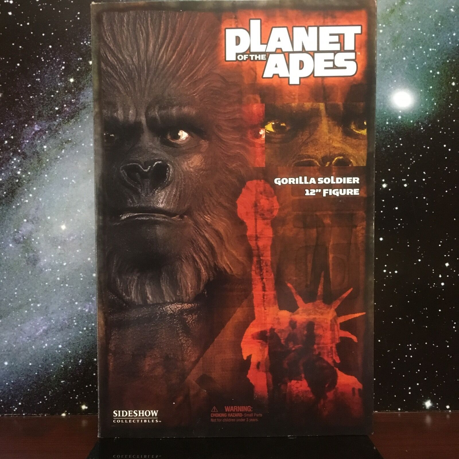 2004 SIDESHOW PLANET OF APES GORILLA SOLDIER W/ CLUB 12