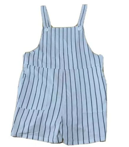 Girls size 8 MOSSIMO white navy stripe summer PLAYSUIT  play suit  NEW
