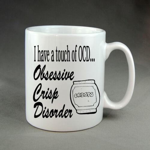 Funny Obsessive Crisp Disorder OCD Mug Cute Coffee Tea Cup Gift Present