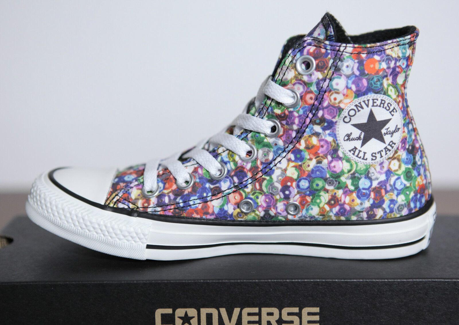 Neu All Star Converse Chucks Hi Can Multi WEISS Schuhe 542476c Gr.36,5 UK 4