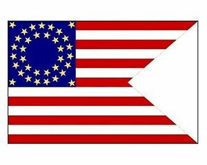 35-Star-CAVALRY-GUIDON-3x5-ft-Union-Civil-War-Flag-Print-Polyester-Material
