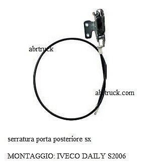 SCONTRO PORTA SINISTRA SX SERRATURA IVECO DAILY 93924716