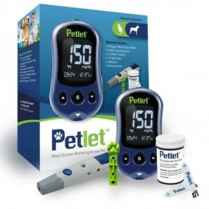 petlet pet blood glucose monitoring system kit calibrated for dogs cats. Black Bedroom Furniture Sets. Home Design Ideas