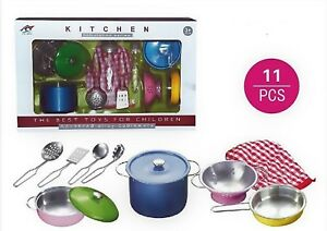 Image Is Loading Children 039 S Toy Metal Kitchen Cooking Utensils