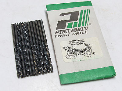 """12 new PTD 5//32/"""" R10HD Jobber Length HSS 135° Precision Twist Drills black oxid"""