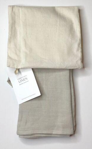 Restoration Hardware Garment-Dyed Linen Standard Pillowcases 2 Dune NEW $99