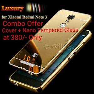 Luxury-Aluminium-Metal-Bumper-MIRROR-Back-Cover-Case-For-XIAOMI-REDMI-NOTE-3