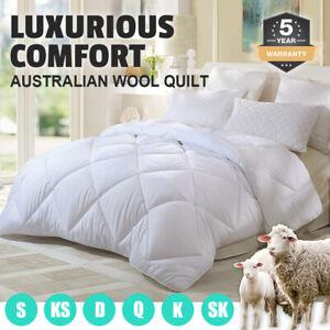 350-500-700GSM-All-Size-Australian-Wool-Quilt-Doona-Duvet-Down-Summer-Winter