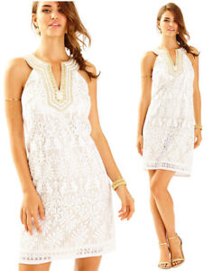 288 lilly pulitzer calera engineered jungle white lace gold beaded