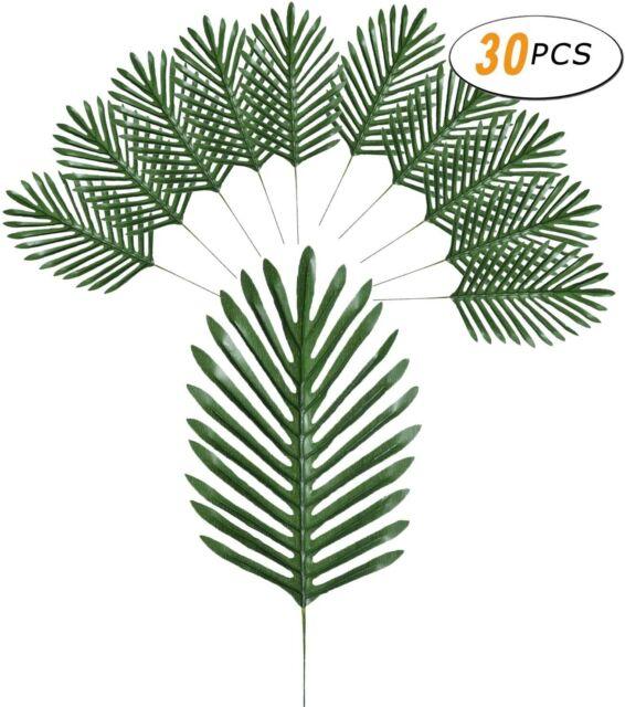 30//36 Artificial Tropical Palm Leaf Fake Green Plant for Home Living Room Decor