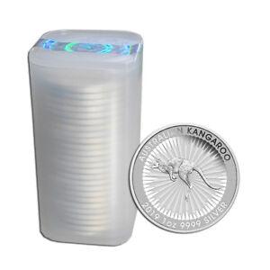 25 x 1 oz Silber Känguru 2019 - 1 Dollar Australien - im Original-25er-Tube