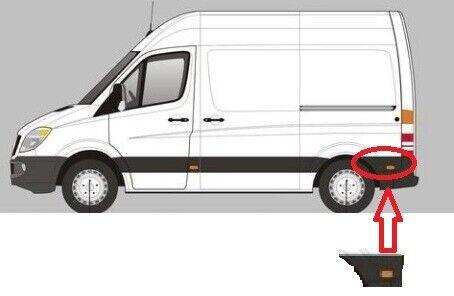 VW Crafter LWB Plastic Protective Side Moulding Strip Trim O//S 2006-2015
