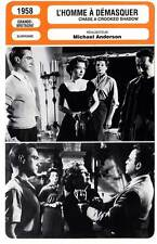 FICHE CINEMA : L'HOMME A DEMASQUER - Todd,Baxter,Lom 1958 Chase A Crooked Shadow