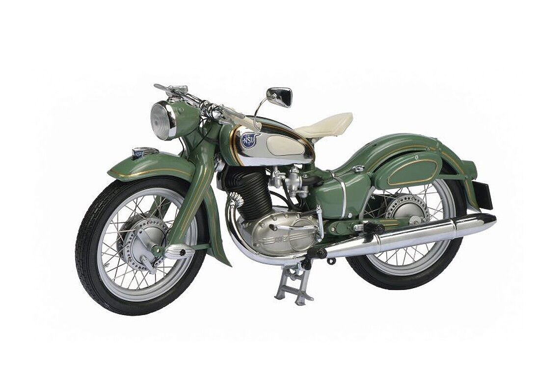 SCHUCO 1/10 MOTO NSU MAX 250 VERTE et CHROME 1953-55 !!!!   La Boutique En Ligne