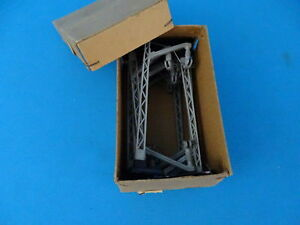 Marklin-407-M-Catenary-Mast-50-ies-version-3-schrag-SET-of-10-Pcs-Boxed