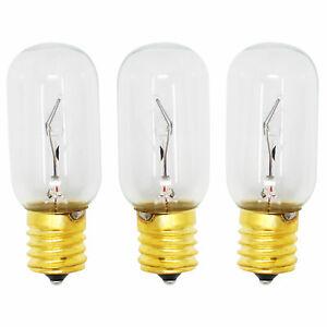 3-pack Light Bulb For Lg Lmv1683st, Lmv1813st, Lmv2031sb, Lmv1683sb, Lmv1831sw Pour Convenir à La Commodité Des Gens
